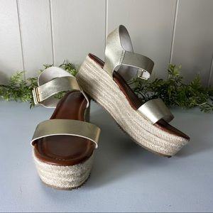 Mossimo Metallic Espadrille Flatform Sandal 11